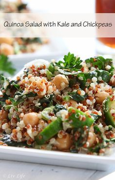 Quinoa Salad with Kale and Chickpeas