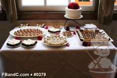 "Design W 0379 | 8"" Butter Cream Wedding Cake & Dessert Bar  | Custom Quote"