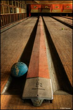 Abandoned bowling alley, New York.