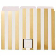 File Folders Gold Stripes 6pk by @kate spade new york  #KateSpadeNY