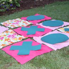 Lawn tic-tac-toe for summer fun. #OshKoshSummer