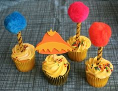 Lorax-themed cupcakes!