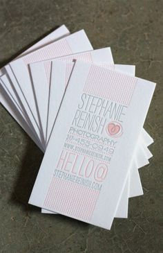 Letterpress business cards - beautiful