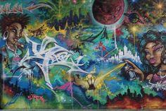 Street art in Newtown Avenue, Wellington, New Zealand
