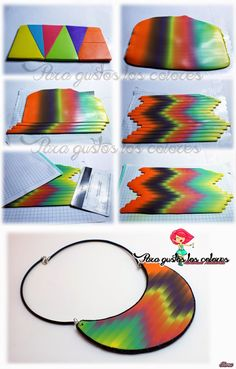 More Bargello - picture tute.  Note the way the blend is set-up.  #Polymer #Clay #Tutorials