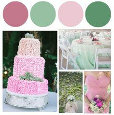 Pink & Green Wedding Colors - Preppy Wedding Style