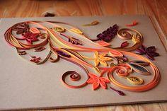 Autumn quilled