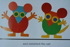 """Letter """"M"""" - mouse shapes"""