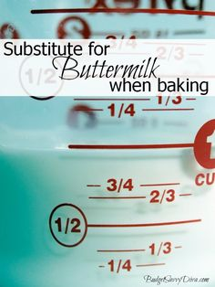 How to Substitute for Buttermilk When Baking