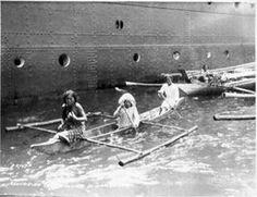 Zamboanga natives, Philippine Islands, departing the USS Luzon, circa 1920s.