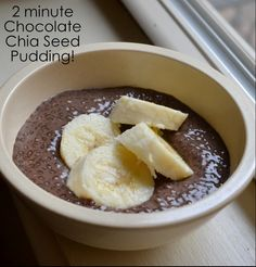ThriceTheSpice: 2-Minute Chocolate Chia Seed Pudding, 2 cups chocolate almond mild, 1/3 c chia seed, wow, so easy