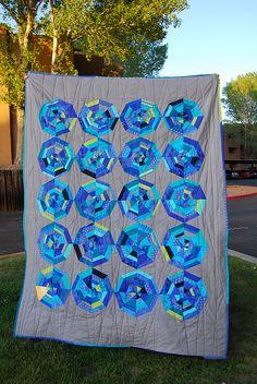 Blurple Spiderweb quilt by a²(w) - asquaredw - Ali, via Flickr