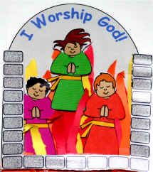 Shadrach, Meshach and Abednego Paper Craft