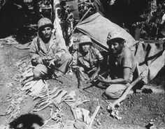 Navajo Code Talkers on Saipan, June 1944