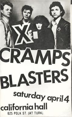 X, The Cramps and The Blasters   35 Old Punk Flyers That Prove Punk Used To Be So Cool