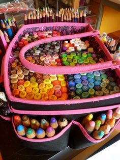 copic marker storage....Oh how I wish I had this many copics.....
