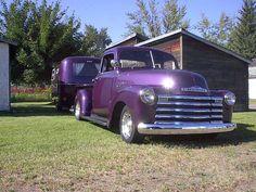 Deep purple boler and Chevrolet.