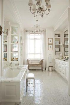 luxe white decor