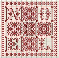 Christmas cross stitch pattern