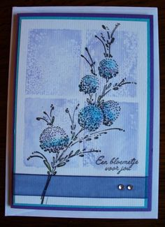 """By Wilma Fischer. Uses stamp from """"Delicate Florals"""" by Penny Black and Distress Inks."""