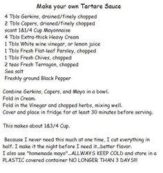 Make your own Tartare Sauce