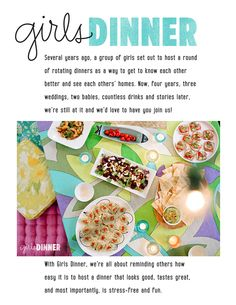 girls dinner :: summer tapas dinner party