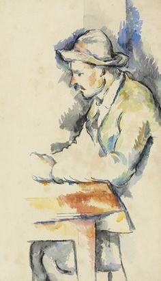 Paul Cezanne- Joueur de cartes  1892-1896, watercolor on laid paper  Estimate: 15-20 million