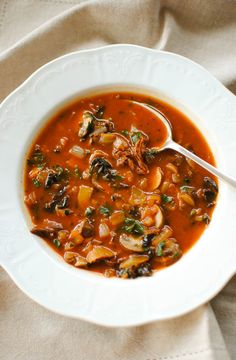 vegan: wild mushroom soup...