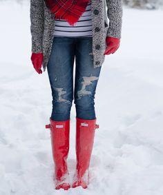 Fashion Pitoune red hunter boots