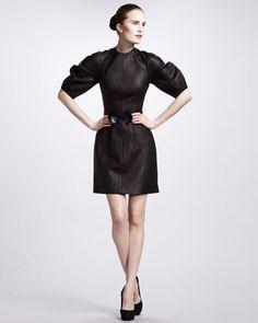 Glove Leather Dress by Alexander McQueen at Bergdorf Goodman.