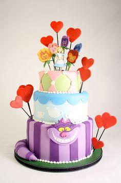 Alice cupcak, alic cake, cake idea, cake design, alice in wonderland, citi cake, charm citi, wonderland cake, birthday cakes