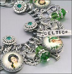 Celtic Jewelry, Silver Charm Bracelet