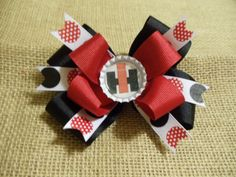 Case IH Tractor Hair Clip Bow by ChickenWingsThings on Etsy, $5.00..my little girl will have this!
