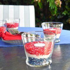 Patriotic Bug-Repelling Rice Candleholders via TxTerriSweeps