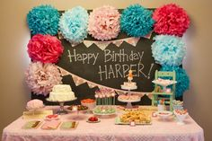 Fun Birthday Theme: Vintage Schoolhouse with bright colors - #firstbirthday