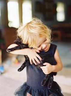 Kid & Kitty hugs