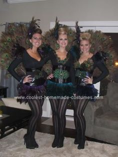 Homemade DIY Peacock Halloween Costume Ideas: Each year I try to top what I made the year before and these DIY Peacock Halloween Costume Ideas are by far my favorite. I usually make costumes for my