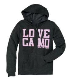 Bass Pro Shops® ''Love Camo'' Hooded Sweatshirt for Ladies - Long Sleeve | Bass Pro Shops
