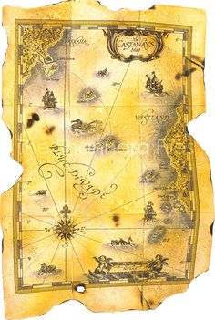 Castaway's Map from the Voyage of the Jerle Shannara series by Terry Brooks
