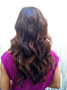 long brunette hair. I daydream about my hair being this someday. Growing out hair is a pain.