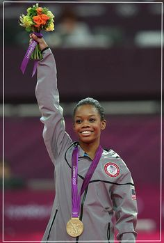 Gabrielle Douglas became the first American gymnast ever to win both the team and individual all-around gold medals at the same Olympics