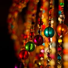 beads lamps, warm colors, glasses, beaded curtains, soft light, beads, memories, christmas ornaments, bohemian