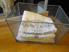 DIY Vintage locker basket.