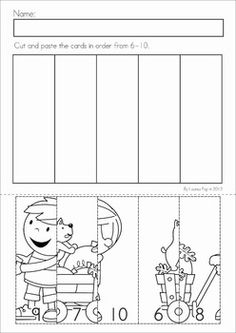 Autumn / Fall Math Worksheets & Activities - (Kindergarten). 52 pages. A page from the unit: Number Puzzles