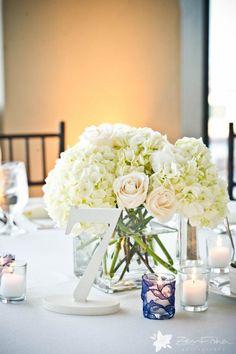 White Weddings - Table Numbers!
