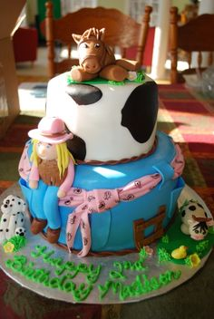 Cowgirl Cake CakeCentral.com