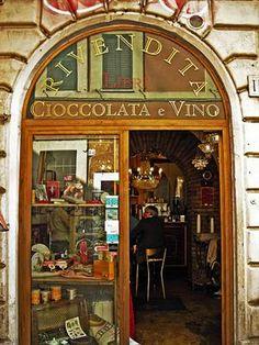 petitpoulailler:    sunsurfer:Wine and Chocolate Bar, Rome,...