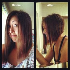Inverted/A-line bob. What a difference on her! She looks instantly thinner, younger and a lot more stylish.