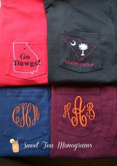 School colors monogram shirts