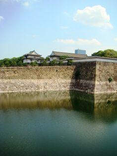 Osaka Castle Gate and Moat - Osaka, Japan